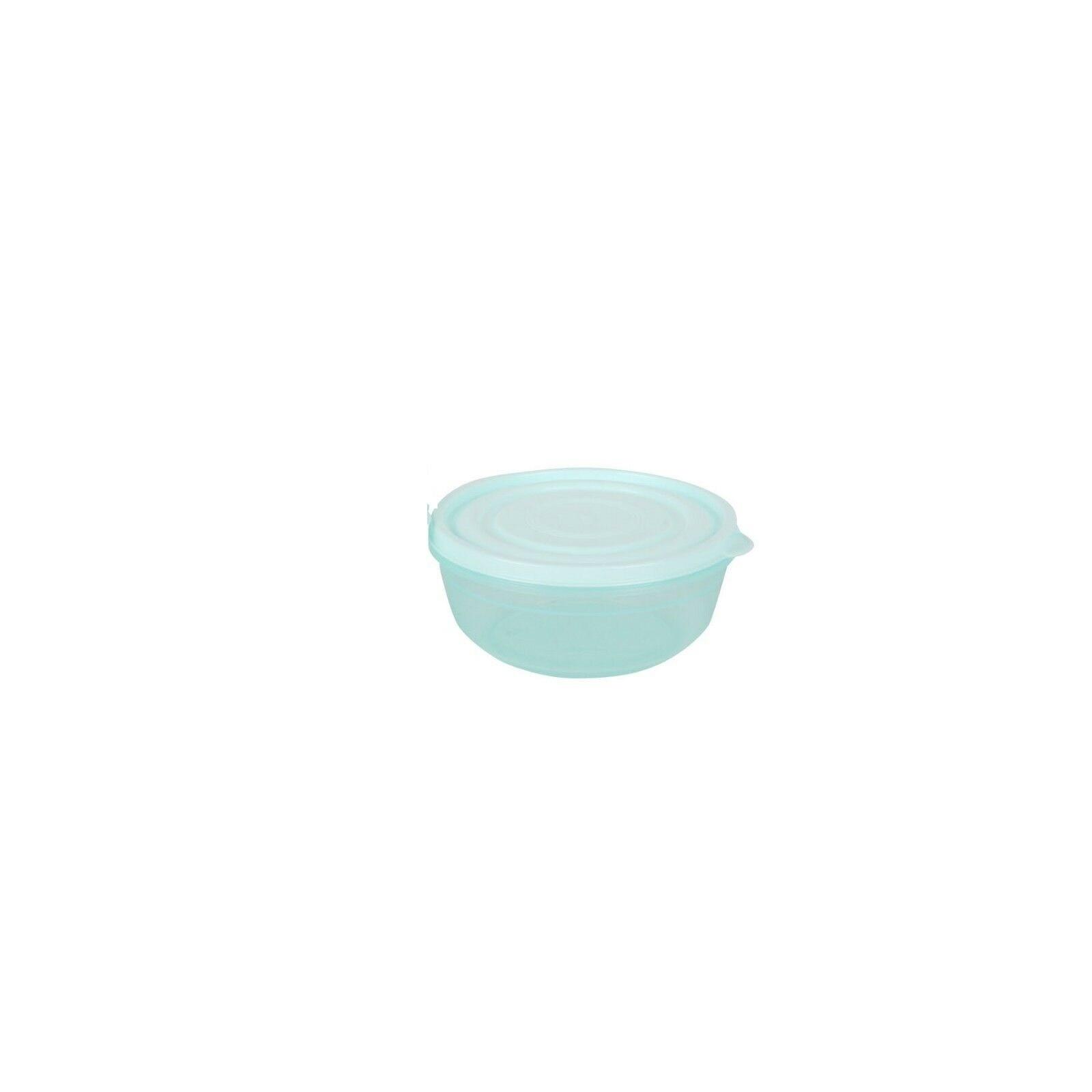 Boite en plastique ronde 400ml BLEU