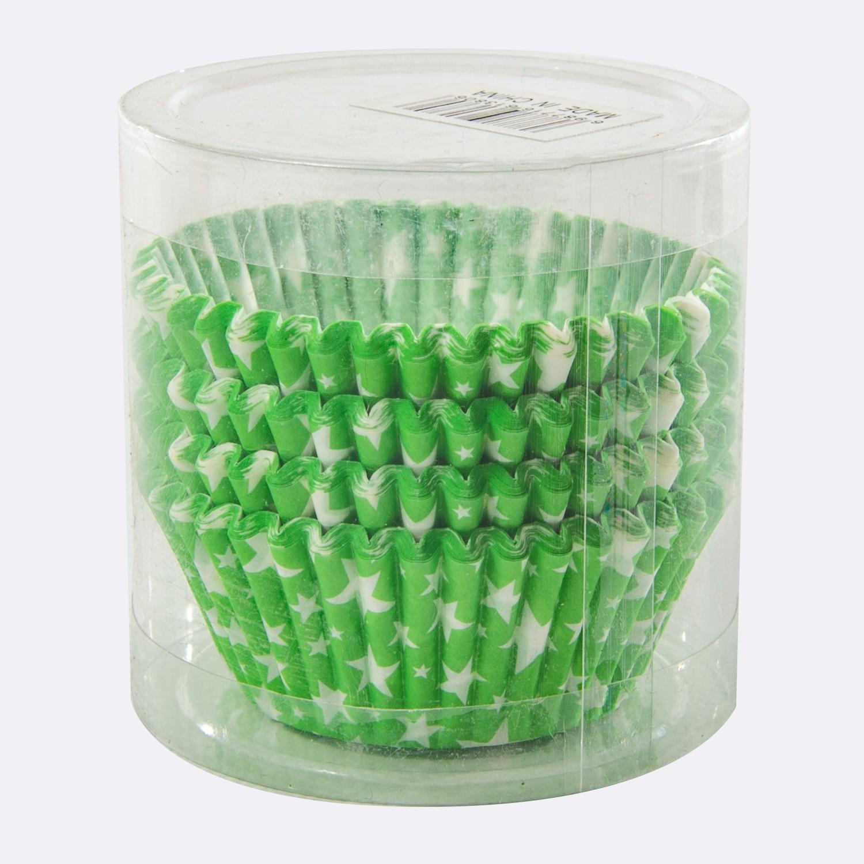 set de 100 Caissettes Cupcakes et Muffins en Papier Couleur Vert