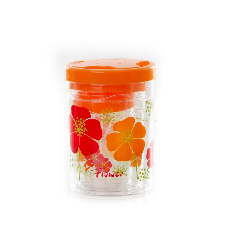 Lot de 3 Boites Ronde Orange avec Couvercle