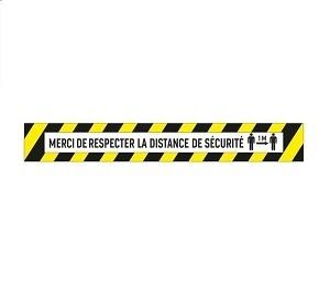3 Sticker Bande Autocollant Merci De Respecter La Distance De Sécurité
