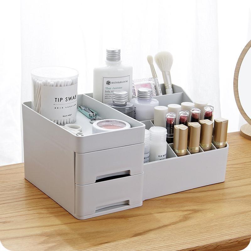 Rangement de Maquillage avec 2 Tiroirs en Plastique