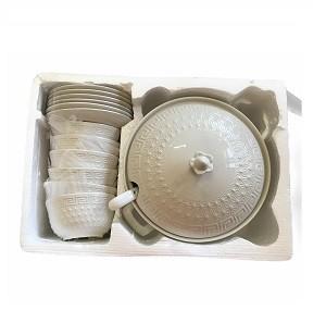 Set Soupière avec bols 15 Pièces en Porcelaine