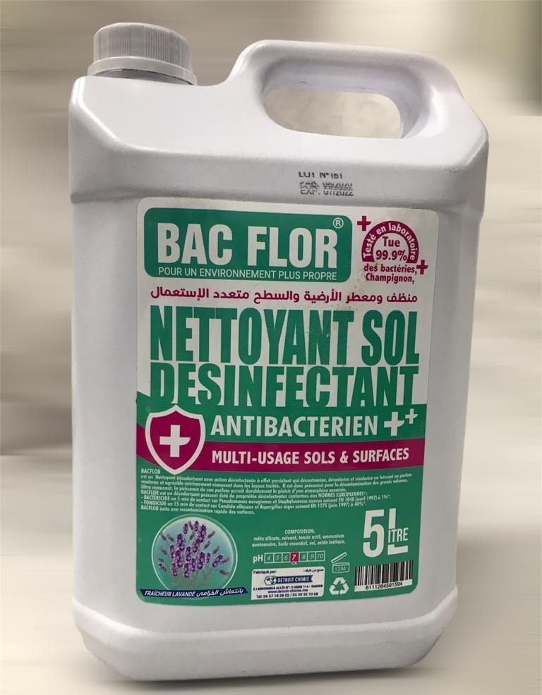 Nettoyant sol Désinfectant Antibactérien Multi Usage 5L Lavande