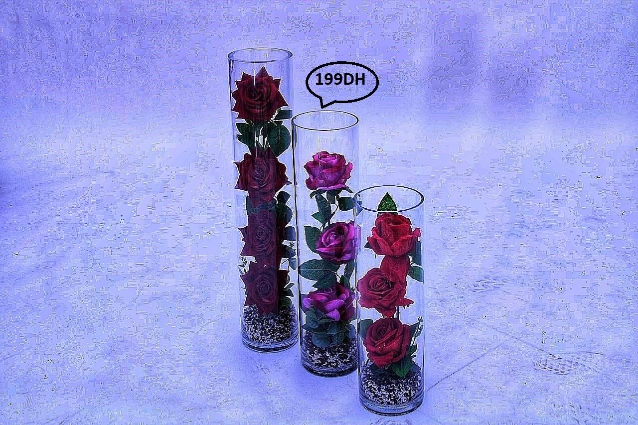 Fleur Artificielle Vase en Verre