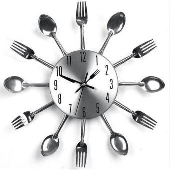 Horloge Décoratif Murale pour Cuisine Fourchette cuillère