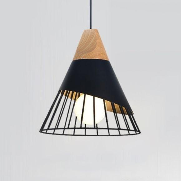 Suspension Design Bois/Fer/Alum Jaune