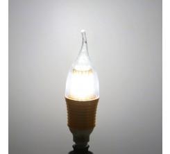 Lampe LED Flamme Décor Claire Filament E14 9W 3000K