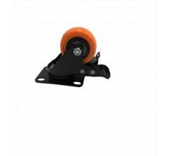 Roue orange avec frein GD 40