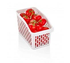 Bac de Rangement Réfrigérateur avec Stand Blanc