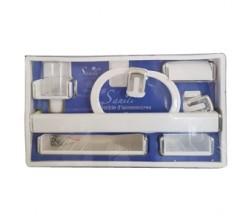Ensemble Accessoires SDB Plastique Blanc SANILI