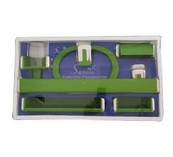 Ensemble Accessoires SDB Plastique Vert SANILI
