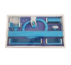 Ensemble Accessoires SDB Plastique Bleu SANILI