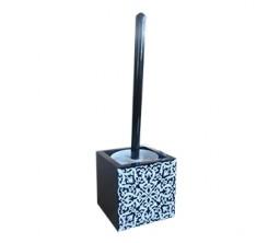 Brosse WC MDF Noir Motif 3001 Sanili