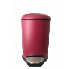 Poubelle rond Bass 3L inox 304 Rouge luxe sanili