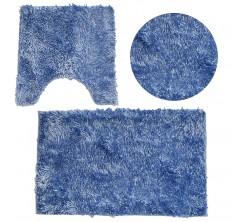 Tapis Salle de Bain 3 pièce 50.80cm Sanili Bleu