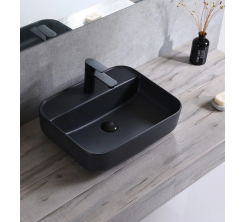 Vasque à Poser 46x42cm Serie ONE carré noir