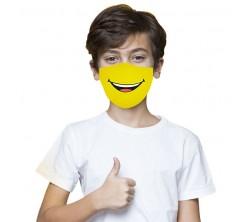 Masque De Protection Pour Enfant Motif Smile Jaune