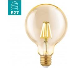 Ampoule lm-e27 led G95  4w amber 2200k