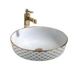Vasque Décor 41.5x41.5x13.5cm blanc MONZA