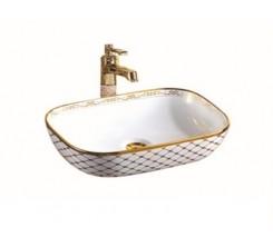 Vasque Décoratif 45.5x32.5x13.5cm Blanc MONZA