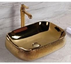 Vasque à Poser Carré Doré 56x42x14.5cm TIVOLI