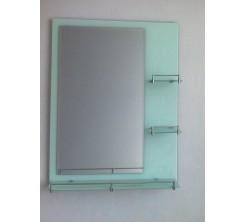 Miroir 80x60cm Blanc Atlantic + Lampe H-1025 blanc