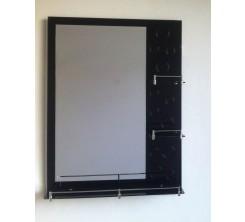 Miroir 80x60cm  Noir Atlantic + Lampe h-1025 noir
