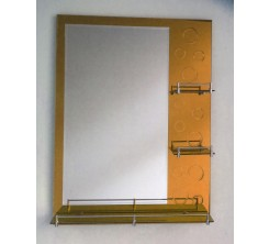 Miroir 80x60cm Gold Atlantic