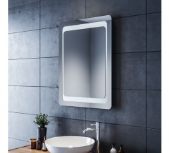 Miroir LED Rectangulaire mural Lumineux avec Interrupteur 45x 65 cm