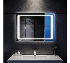 Miroir LED rectangulaire mural lumineux avec interrupteur 60x 65 cm