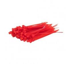 Collier de Serrage Rouge 3.6x150mm 100pcs