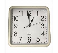 Horloge Mural carré en Plastique Blanc avec Chiffre en Noir