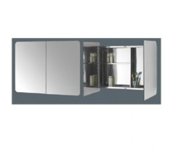 Armoire Inox A/V Miroir 800Wx600Hx120 Sanili