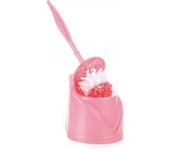 Porte Balai wc en Plastique Rose