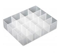 Rangement Tiroir En Plastique à 15 Compartiments Avec Couvercle