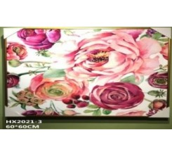 Tableau Decoratif-Fleur Rose 60x60cm