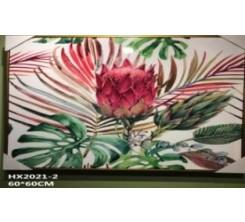 Tableau Decoratif-Fleur Rouge 60x60cm