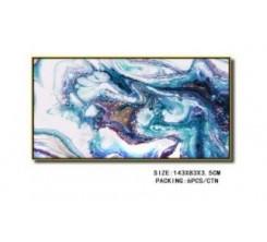 Tableau Decoratif-Multicolor 143x83x3  5cm