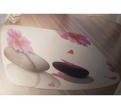Tapis sdb Soft Piedra Con Flores