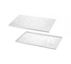 Plat en Mélamine Type Buffet Blanche 26.5x32.5cm