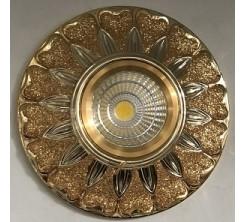 Électricité - Luminaire Plafond - Spot doré design élégant