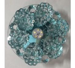 Électricité - Luminaire : Spot Cristal LED Bleu 3W