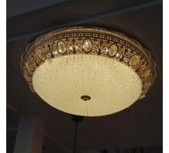 PLAFONNIER 500 décoratif rond en Cristal + verre 92w H6318-500