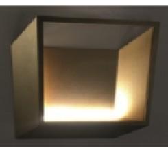 Applique Led Angle Droite Carré 5 W Bronze