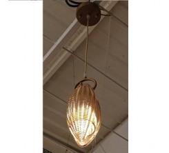 Suspension decoratif en verre une pcs doré 8874/1H-Y