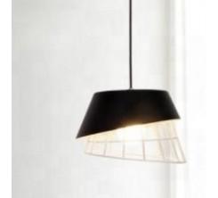 Suspension Chapeau Design Fer 8041 Noir 1xE27