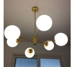 Lampe Suspension 6-lumières Ramification Vintage Métal Lustres