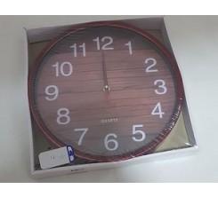 Horloge Murale Ronde Marron 12-4