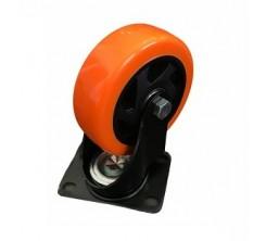 Roue orange avec plaque YS 100