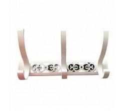 Porte Manteau à Vis 3 Crochet Blanc Design